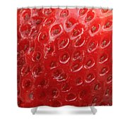 Strawberry Closeup Shower Curtain