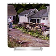 Strawberry Day Shower Curtain