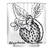 Strawberry Dreams Shower Curtain