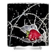 Strawberry Extreme Sports Shower Curtain