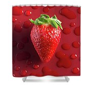 Strawberry Fresh One Shower Curtain