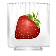 Strawberry Fruit Shower Curtain