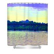 Strawberry Mansion Bridge Across The Schuylkill River Shower Curtain