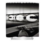 Strawberry Mansion Bridge In Winter Shower Curtain