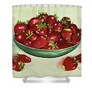 Strawberry Memories Shower Curtain