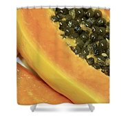 Strawberry Papaya Shower Curtain