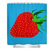 Strawberry Pop Shower Curtain by Oliver Johnston