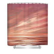 Strawberry Sky Sunset Shower Curtain