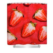 Strawberry Slice Food Still Life Shower Curtain