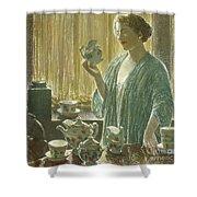Strawberry Tea Set, 1912 Shower Curtain