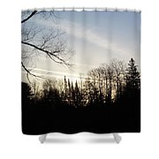 Streaks Of Clouds In The Dawn Sky Shower Curtain