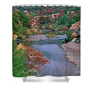 Stream And Fall Color In Central California Shower Curtain