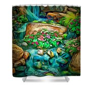 Stream In Ambiance Shower Curtain