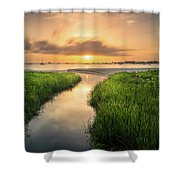 Stream To The Sea Shower Curtain