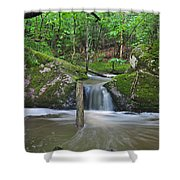 Stream Waterfall Shower Curtain