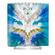 Streams Of Light In Turquoise Shower Curtain