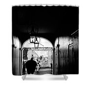 Street Ally New Orleans Black  Shower Curtain