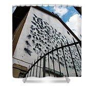 Street Art At The Campidoglio Neighborhood - 5 Shower Curtain