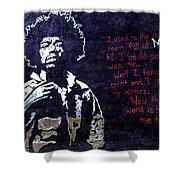 Street Art - Jimmy Hendrix Shower Curtain
