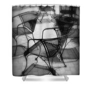 Street Cafe Shower Curtain