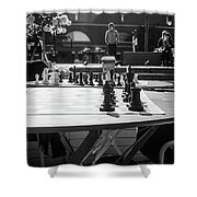 Street Chess 2 Shower Curtain