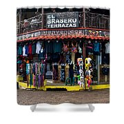 Street Commerce At Ataco Shower Curtain