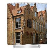 Street Corner In Bruges Belgium Shower Curtain