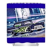 Street Cruiser - American Way Of Drive 4 By Jean-louis Glineur Shower Curtain