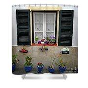 Street Flower Art Shower Curtain