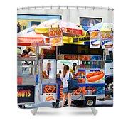 Street Food 2 Shower Curtain