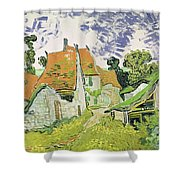 Street In Auvers Sur Oise Shower Curtain