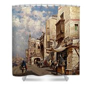 Street In Cairo Shower Curtain
