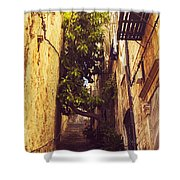 Street In Dubrovnik Old Town Shower Curtain