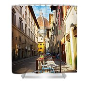 Street In Florence Shower Curtain