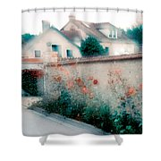 Street In Giverny, France Shower Curtain