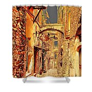 Street In Old Town. Shower Curtain