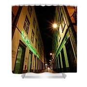 Street In Ponta Delgada Shower Curtain