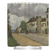 Street In Pontoise Strabe In Pontoise Camille Pissarro Shower Curtain