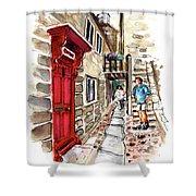 Street In Robin Hoods Bay 01 Shower Curtain