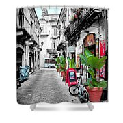 Street In Sicily Shower Curtain
