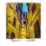 Street In Vernazza - Vintage Version Shower Curtain