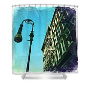 Street Lamp And Fire Escape Shower Curtain
