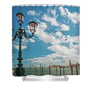 Street Lamp At Venice, Italy Shower Curtain