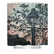 Street Lamp Historic Vintage Art Print Shower Curtain