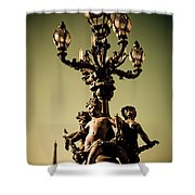 Street Lamp I Shower Curtain