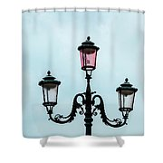 Street Lamp Of Venice Shower Curtain