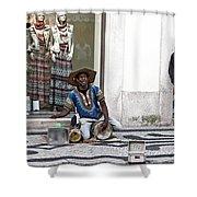 Street Music, Lisboa Shower Curtain by Lorraine Devon Wilke