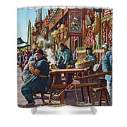 Street Life Of Peking, 1921 Shower Curtain