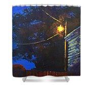 Street Light Nocturne Shower Curtain