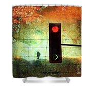 Street Lights And Cold Nights  Shower Curtain